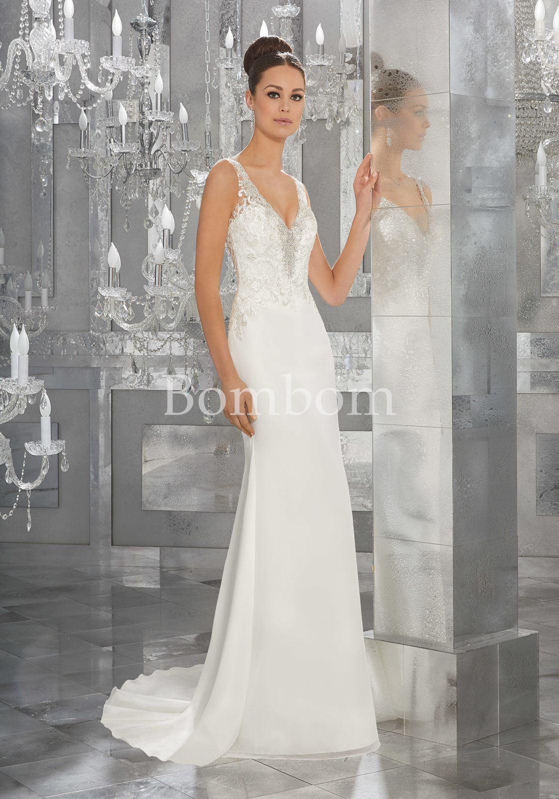 Vestido Novia Encaje Corte Sirena Morilee Madeline Gardner 5564