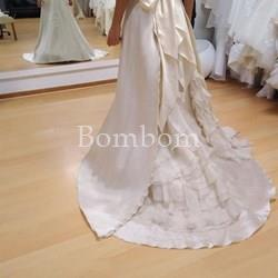 e8740871d Vestido novia blanco roto volantes talla 36- 38 - Vestido novia largo