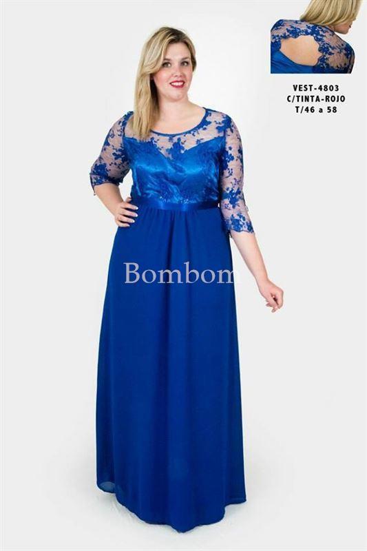 Vestido Talla Grande Desde 46 Hasta La 62 Color Azul Y Rojo